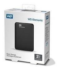 Disco Duro Externo Wd Elements 2 Tb Usb 3.0 Nuevo En Caja
