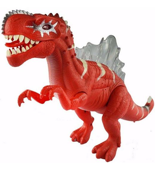Dinossauro Com Som, Luz E Movimento Brinquedo Frete Grátis