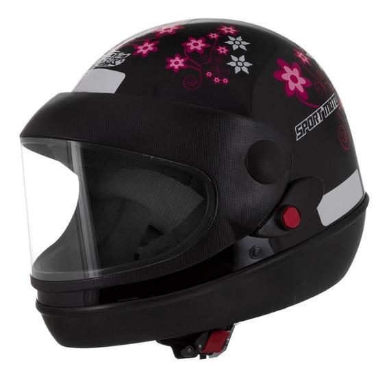 Capacete Street Sport Moto For Girls Pro Tork Feminino