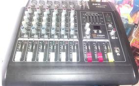 Mesa De Som Amplificada Com Efeitos Skp Vz60a