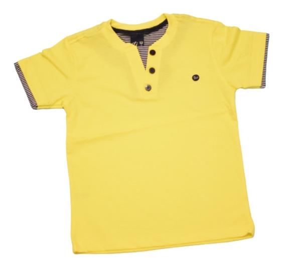 Blusa Polo Camisa Infantil Masculina Theo Boy Kids 070.19