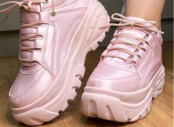 Tênis Sneakers Búffalo Feminino Plataforma Conforto