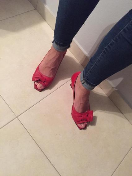 Zapatos Mujer Rojo De Fiesta - Talle 40