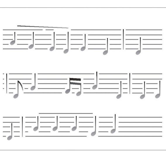 Stencil Opa 20x25 Simples Notas Musicais Opa 2074