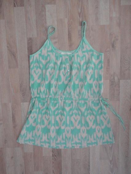 Vestido / Remeron Verde Y Beige India Style
