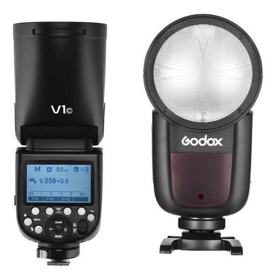 Flash Godox V1-s Cabeça Redonda Ttl Master Speedlight Sony