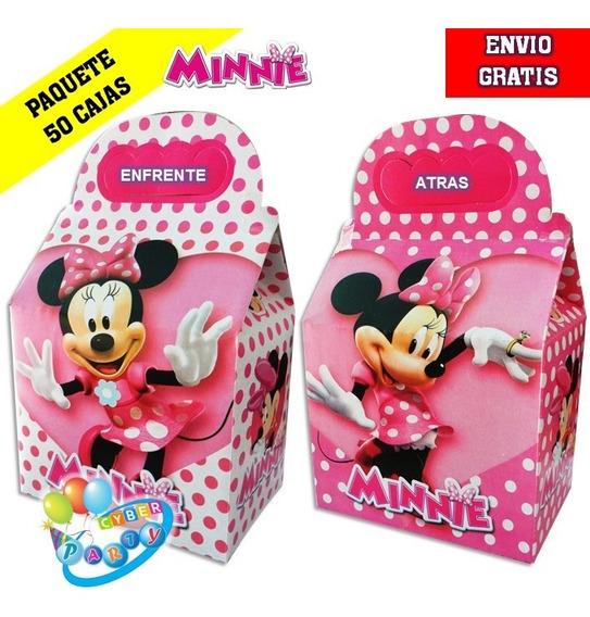 Minnie Mouse 50 Cajas Dulceras Fiesta Mimi Bolo