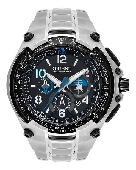 Relógio Orient Flytech Masculino Cronógrafo Mbttc016 Titanio