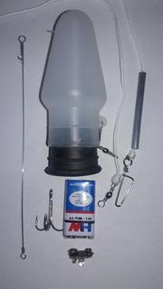Boia Luminosa Kit Espada Completo Pesca De Espada Kit Combo Com 5 Unidades Chicote Bateria 9 V Garatéia Led E Acessórios