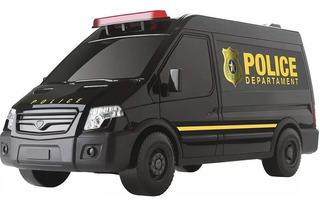 Carrinho Policia(supervan) Brinquedo Original - Roma 1621