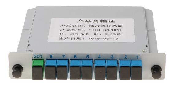 1 Para 8 1x8 Sc -upc Conector Inserido Plc Fibra Ótico Óti