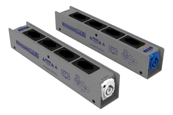 Kit 4 Regua Distribuidor De Energia Ac Powercon Tomada Wpd5