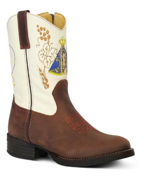 Bota Country Texana Infantil Couro C Horse Floater N Senhora