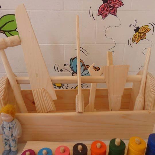 Caixa De Ferramentas Brinquedo De Madeira