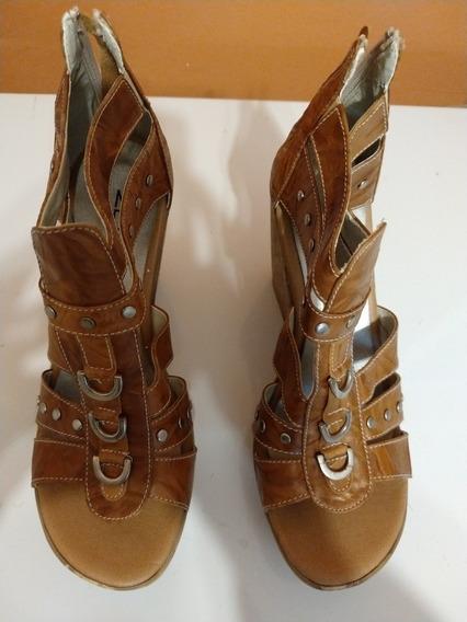 Subasta Zapatos Zuca Marron Mujer