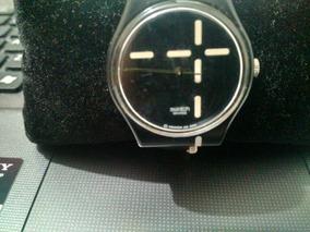 Lindo Relógio Swatch Ag 2000 Made In Swiss Preto Com Branco