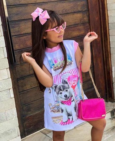 Vestido Infantil Mini Diva Dog Rosc Siberiano Tam 4