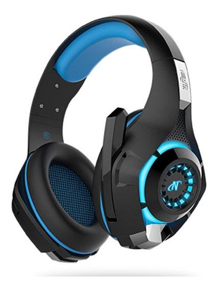Auriculares Headset Gold Para Sony Ps4 Nisuta Usb Luz Led