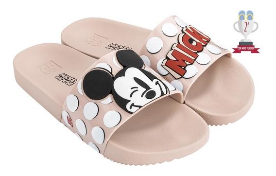 Chinelo Zaxy Pop Mickey Slide - Nude - Ref. 17.977