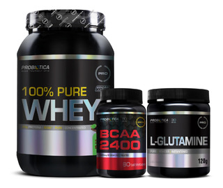 100% Pure Whey - Bcaa 2400 Monster 60 Caps -l-glutamine 120g