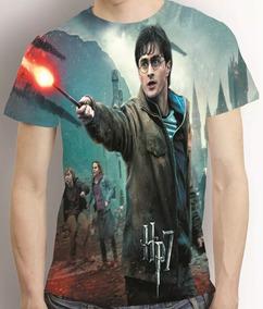 Camisa Camiseta Harry Potter E As Relíquias Da Morte