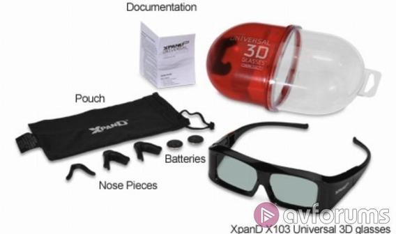 Oculos 3d Tv E Projetor Top De Linha Mundial