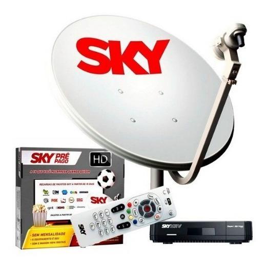Sky Pré Pago + Recarga + Habilitação Rec Digital 12m Inclusa