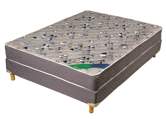 Sommier Y Colchon 190x140 Resortes Inducol