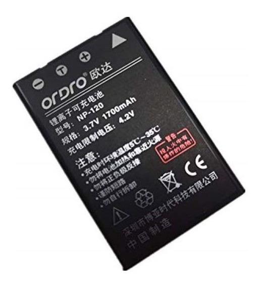 Bateria Np-120 Filmadora Ordro Ac1 Ac3 Ac5 Az50 V12 D395 V7