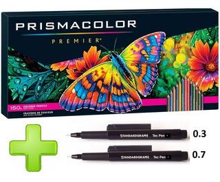 Colores Prismacolor Profesional 150 + 2 Estilo. Desechables