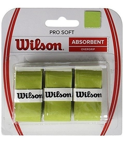 Wilson Pro Soft Overgrip Pack X3 (lima)