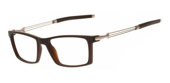 Armação Oculos Ogrife Og 1744-c Masculino Com Lente Sem Grau