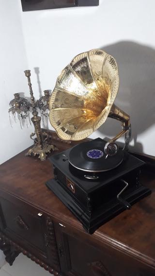 Gramofone Vitrola A Corda+2discos Francisco Alves+30 Agulhas