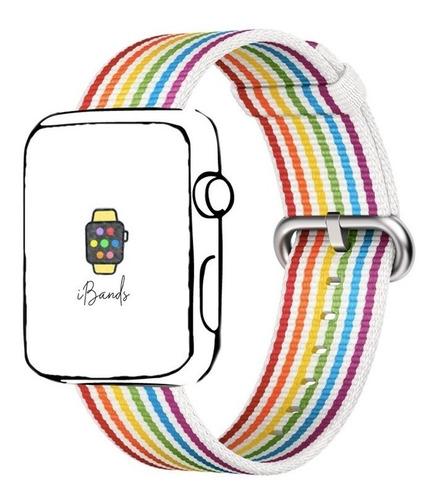 Imagem 1 de 1 de Pulseira Ibands Tecido Fivela Várias Cores Para Apple Watch