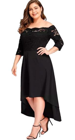 Vestido Shein Fiesta Encaje Irregular Plus Size 2x 3x