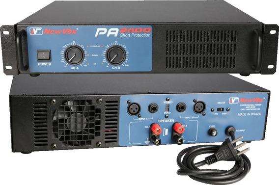 Amplificador De Potência New Vox Pa 2800 - 1400w Rms C/ Nf