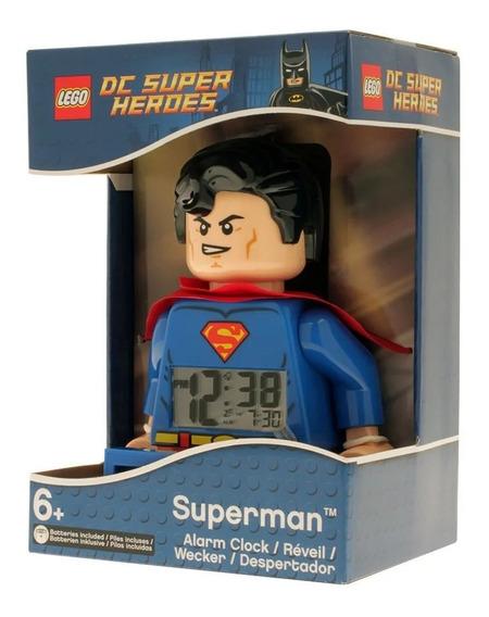 Reloj Lego Despertador Digital Superman Dc Comics Super Hero