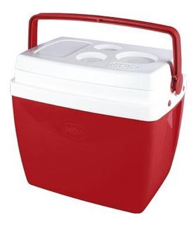 Caixa Térmica Cooler 26l Com Alça E Porta Copos - Mor Red