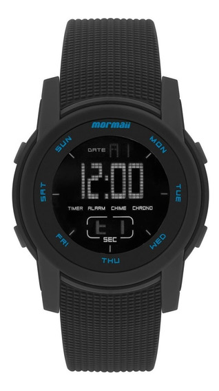 Relógio Masculino Mormaii Action Mo1000ab/8p Plastico Preto