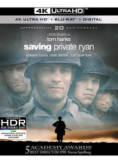 4k Uhd + Blu-ray Saving Private Ryan / Rescatando Al Soldado