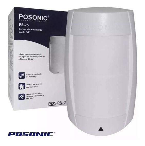 Sensor Presença Alarme Area Externa Ps-75 Posonic