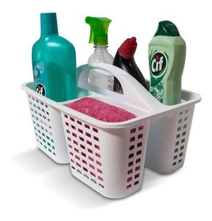 Canastos Organizador Cesto Limpieza Plastico Con Manija Colombraro