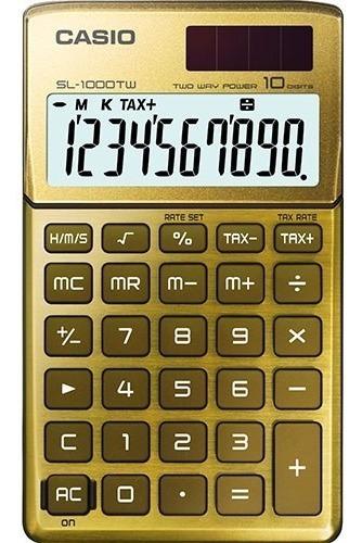 Calculadora Casio Solar Sl1000 10 Digitos Colores Dist Ofic