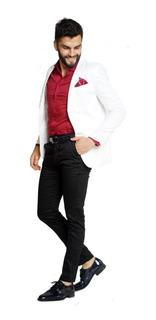Cinto Y Zapatos Vestir Con Traje Entallado Camisa Y Pañuelo