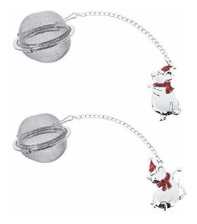 Ganz Modern Tea Infuser Strainers, Stainless