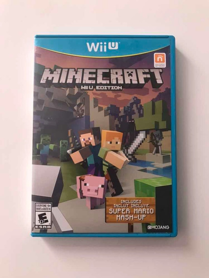 Minecraft Wii U Com Super Mario Mash Up Mídia Física