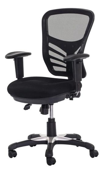 Cadeira Escritório Mesh Diretor 3 Alavanca Preta