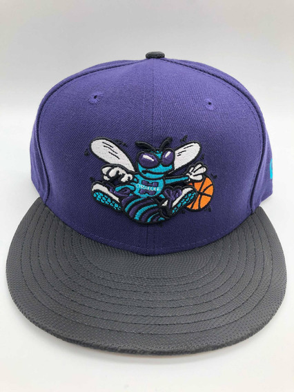 Gorra New Era Charlotte Hornets Black/purple Retro Ne Snap