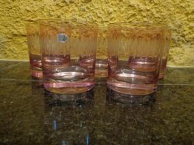 Antigo Conjunto De Copos Em Cristal - R 2254