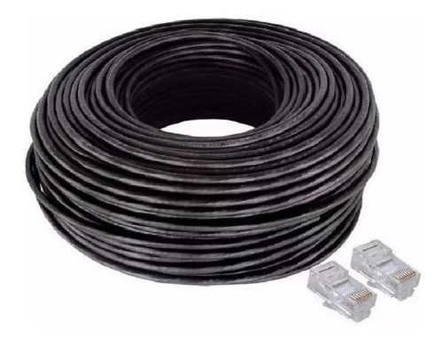 Cable De Red Armado Por 40 Mts Exterior Modem Router Camara